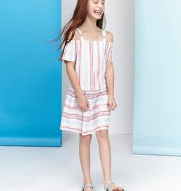 Little Joule Cream Stripe Bardau Dress