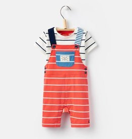 Little Joule Red Striped Overall