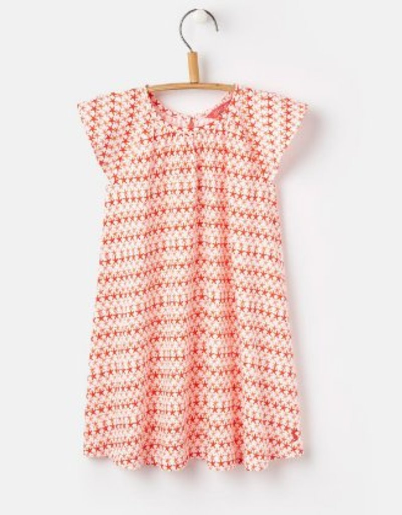 Little Joule Coral Starfish Jersey Dress