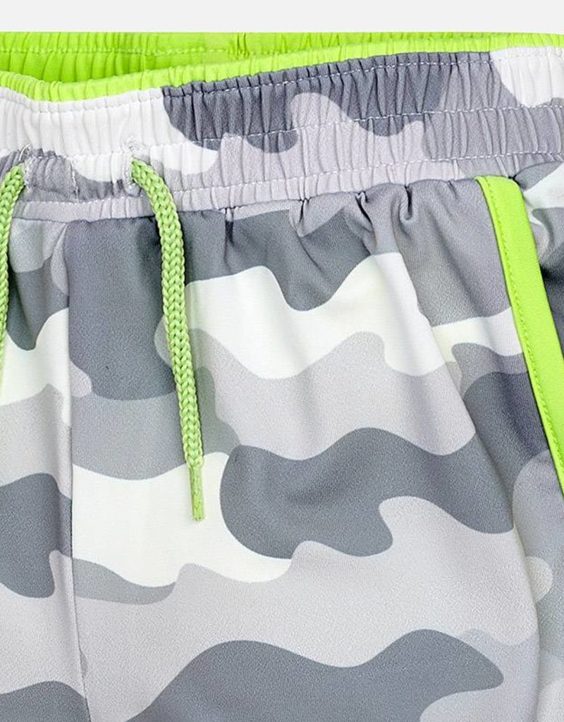 Mayoral USA Gray Printed Camo Shorts