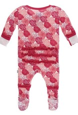 Kickee Pants Rose Ruffle Footie