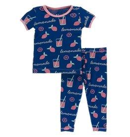 Kickee Pants Pink Lemonade Pajama Set