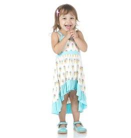 Kickee Pants Natural Ice Cream Print Hi-Lo Maxi Dress