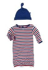 Kickee Pants USA Stripe Layette Gown