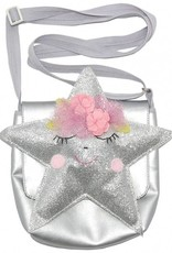Lily and Momo starlight bag in shiny silver