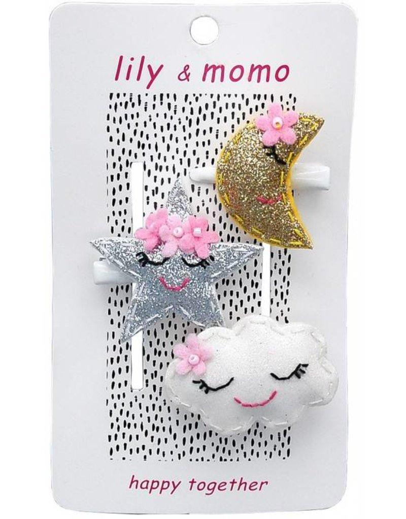 Lily and Momo starlight moon kisses clip set