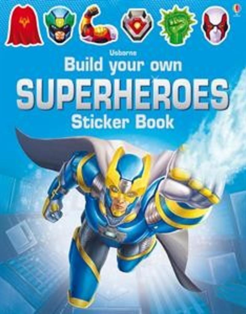 Usborne Books BYO Superhero Sticker Book
