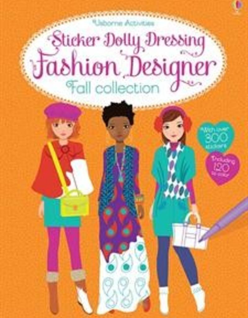 Usborne Books Fall Fashion Design Sticker Dolly Dressing