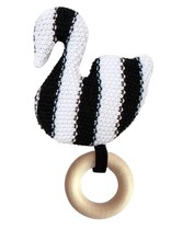 Manhattan Toy Swan Knit Baby Rattle
