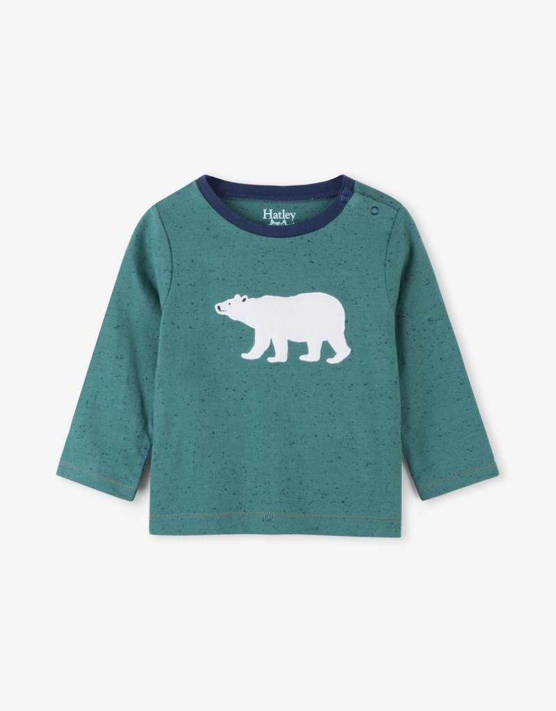 Hatley Civilian Teal Polar Bear Tee