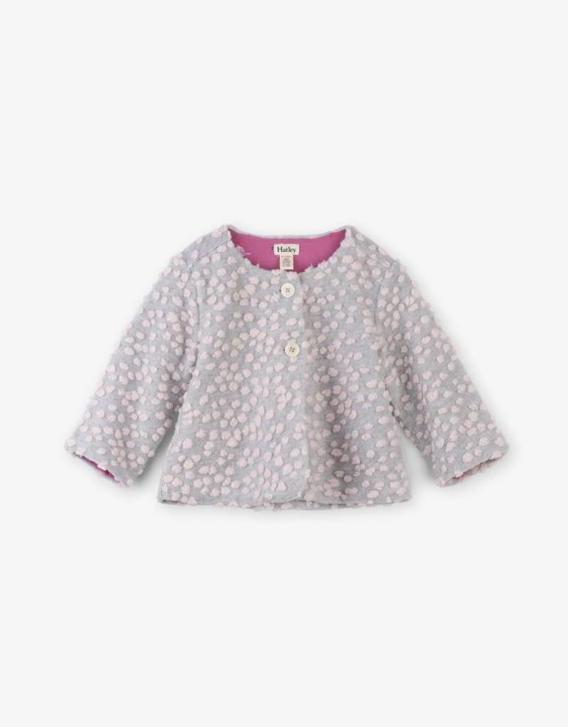 Hatley Grey Pink Dot Baby Jacket