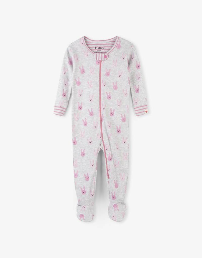 Hatley Funny Bunnies Org. Footed Coverall