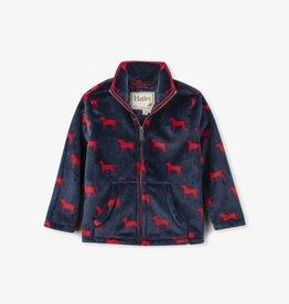 Hatley Red Lab Fuzzy Fleece Zip Up