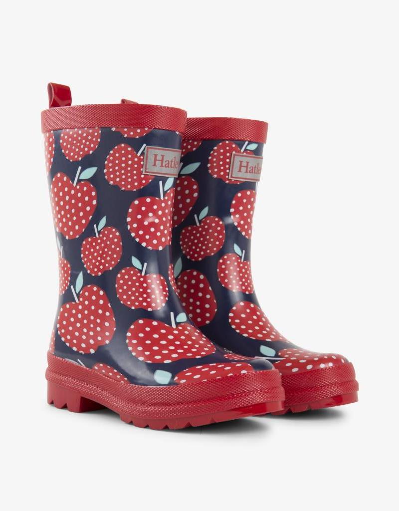 Hatley Polka Dot Apple Rain Boots