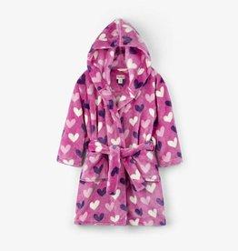 Hatley Beachy Pink Multi Hearts Fleece Robe
