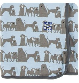 Kickee Pants London Dogs Swaddle Blanket