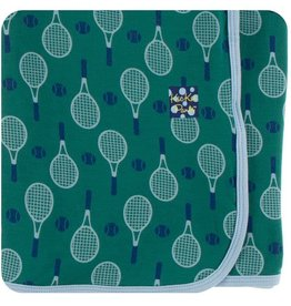 Kickee Pants Ivy Tennis Swaddle Blanket