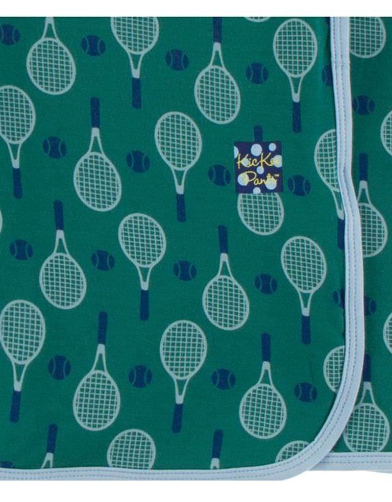 Kickee Pants Ivy Tennis Swaddle Blanket