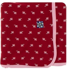 Kickee Pants Candy Apple Rose Bud Swaddle Blanket