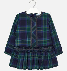 Mayoral USA Green Plaid Dress