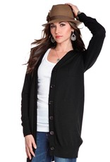 Black Button Down Cardigan  Large