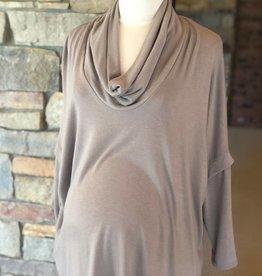 Mocha Sweater Knit Sloane Top  Large