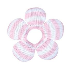 Zubels Pink Stripe Flower Rattle