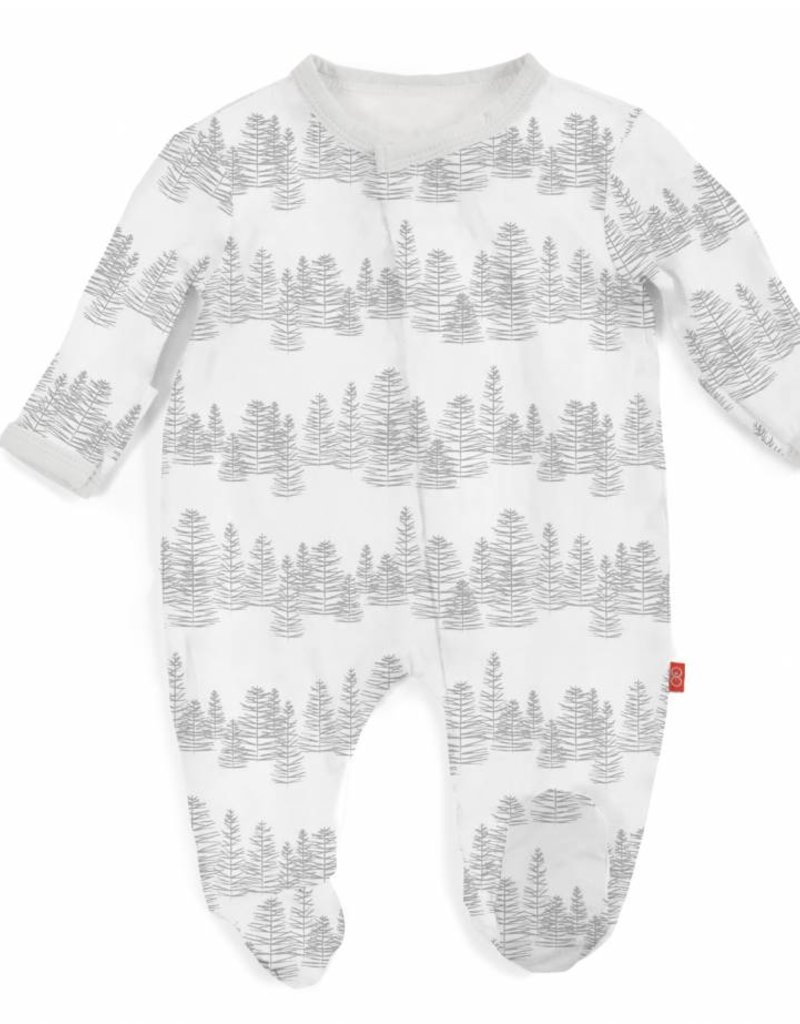 Magnificent Baby White Aspen Footie 9-12m