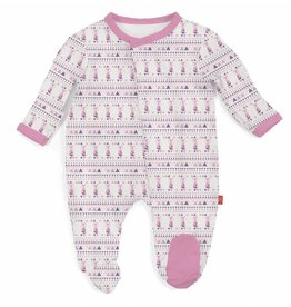 Magnificent Baby Pink Foxy Fair Isle Footie