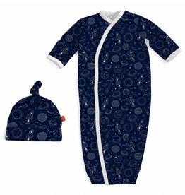 Magnificent Baby Dark Blue Stellar Magnetic Gown NB-3m