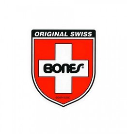 "Bones Bones Swiss Shield Sticker - Small 2 1/4"" X 1 7/8"""