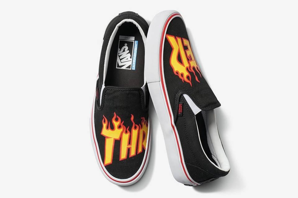 Vans Vans Slip-On Pro Skate Shoes - Thrasher Black