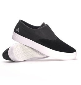 Huf Huf Dylan Slip On Skate Shoes Black/Black/White
