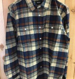 Huf Huf Miller Flannel Shirt - Navy