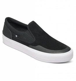 DC DC Trase Slip-On S RT Skate Shoes - Black/White
