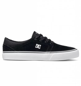 DC DC Trase S Low Top Skate Shoes - Black/White
