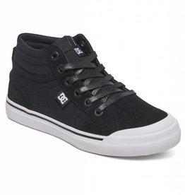DC DC Evan HI High Top Youth Skate Shoes - Black/White