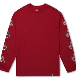 Huf Huf 420 Triple Triangle L/S T-Shirt - Red