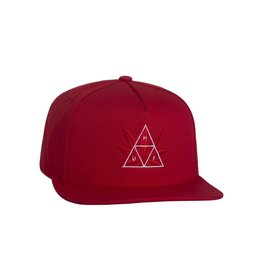 Huf Huf 420 Triple Triangle Snapback Hat - Red