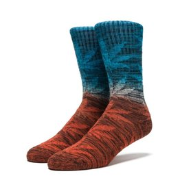 Huf Huf Dippin Plantlife Crew Socks - Sunset One Size