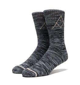 Huf Huf Triple Tri Melange Crew Socks - Black One Size