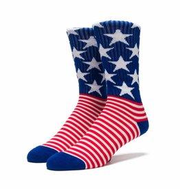 Huf Huf Stars N Pipes Crew Socks - America One Size