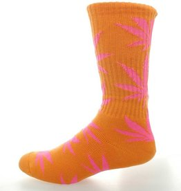 Huf Huf Footwear Glow In the Dark Plantlife Crew Socks - Orange Pink One  Size 750c1667b7c6