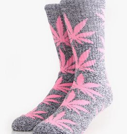 Huf Huf Footwear Plantlife Crew Socks - Navy Heather/Pink One Size