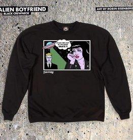 Thrasher Thrasher Alien Boyfriend Crewneck Sweatshirt -Black