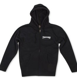 Thrasher Thrasher Magazine Logo Zip Hoodie - Black