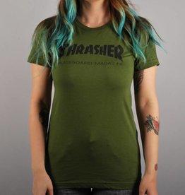 Thrasher Thrasher Skate Mag Logo Girl's T-Shirt - Green