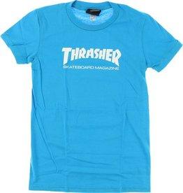 Thrasher Thrasher Skate Mag Logo Girls T-Shirt - Teal Blue