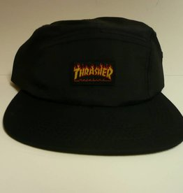 Thrasher Thrasher Flame Logo 5 Panel Hat - Black