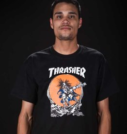 Thrasher Thrasher Skate Outlaw Pushead T-Shirt - Black